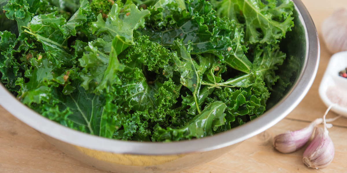 Kale rich in vitamin b9 in its natural folate form
